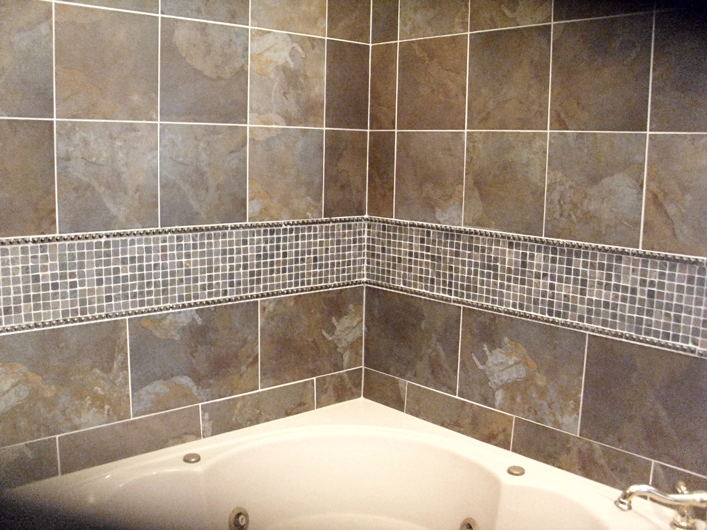 Bathroom tub surround with tile 2015 best auto reviews for Tile shower surround